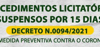 NOVO DECRETO N.0094/2021